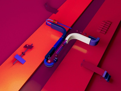 Typo - T typography cinema4d cgi illustration c4d inspiration digital creative 3d art