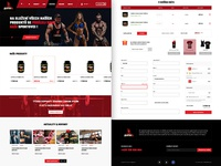 E-commerce design - gym supplements