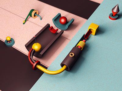 Typo - U letter u typo type typography minimalism cinema4d inspiration illustration c4d art 3d