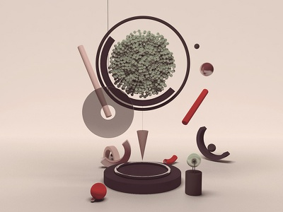 Balance CIRCLE conceptual cgi design minimalism artist inspiration illustration digital c4d graphic creative 3d