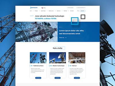 Pramacom design pramacom telecommunication adobe photoshop website webdesign web