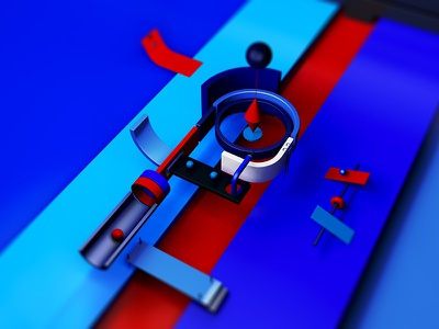 Typo - P p letter typography cgi artist minimalism illustration inspiration c4d graphic digital creative art 3d