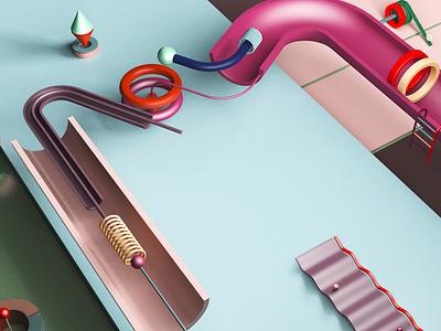 Typo - M minimalism cgi artist design illustration inspiration c4d digital creative art 3d