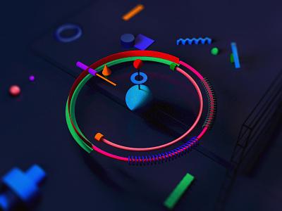 Typo - O illustration typography cgi digital artist inspiration c4d creative 3d art