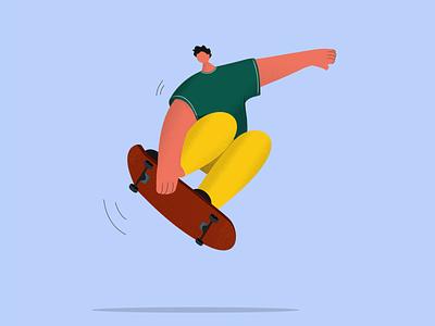 Skater skateboard illustration green yellow skateboards skater skateboarding skateboard skating skate web illustration app illustration flat illustration illustrations illustrator illustration art flat illustration digital illustration digitalillustrating