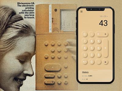 calculator mobile app uxdesign uxui designer italianstyle italy calculator vector ux ui illustrator illustration flat design