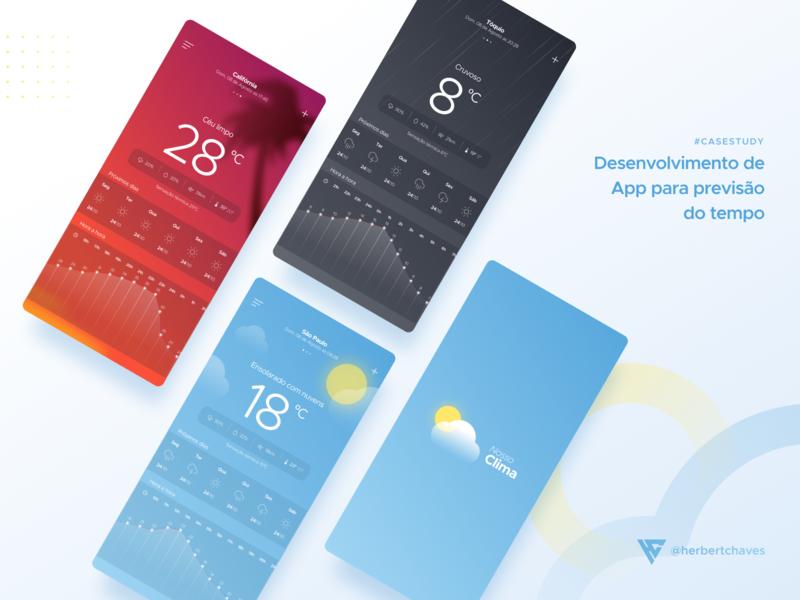 App Nosso Clima typography logo art branding ux app ui illustrator illustration design