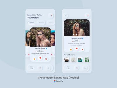 (Freebie ) Neumorphism/Skeuomorphic Dating App
