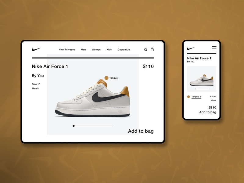 Nike Air Force 1 Landing Page