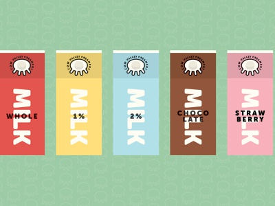 Cow Valley Creamery Concept illustration udder cow creamery dairy milk design mockup icon branding lockup identity brand logotype logo typography