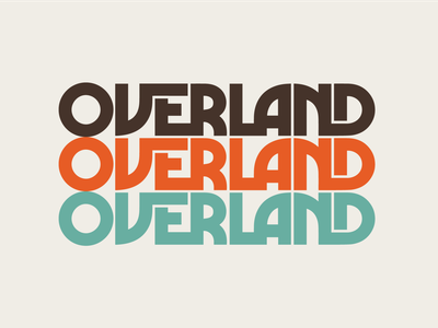 Overland offroad overland draplin thicklines thick lines lettering type lockup identity brand logotype logo retro vintage typography