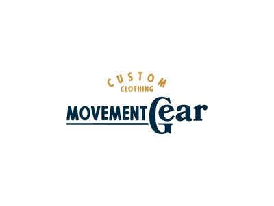 Movement Gear Logo Concept badge script typography retro vintage logotype icon identity brand logo