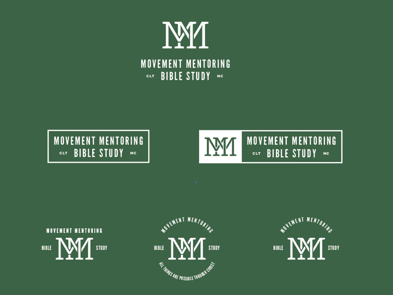 Movement Mentoring Concepts logotype typography church vintage logo monogram