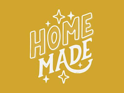 Home Made Logo hand lettering typograpgy vector illustration lettering branding type lockup identity badge brand logotype retro logo typography vintage