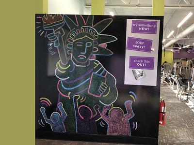Mural for ATF liquid charcoal freehand stippling stipple mural illustration stevemckinnis.com steve mckinnis