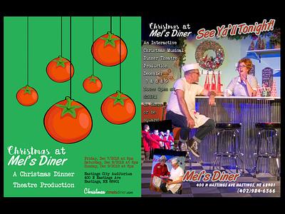 Christmas at Mel's Diner 1 illustration photoshop graphic design web design social media branding photography stevemckinnis.com photographer steve mckinnis