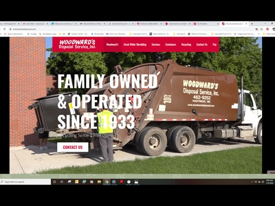 Woodward's Disposal Incorporated html graphics photography graphic design social media web design stevemckinnis.com photoshop photographer steve mckinnis