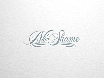 No Shame Wordmark graphic design typography branding design logo