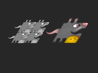 character pattern rat pattern character