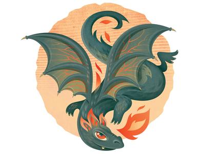 Dragon dragon illustration vector