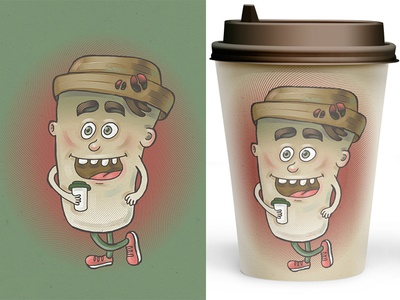 Coffee paper cup Illustration cup coffee