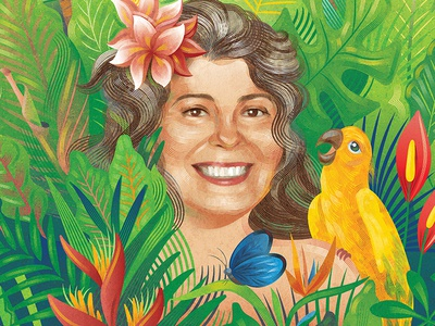 Erica vector illustration tropical