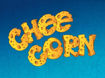 Cheecorn letters cheese
