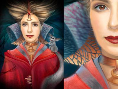 Portrait fantasy painting portrait