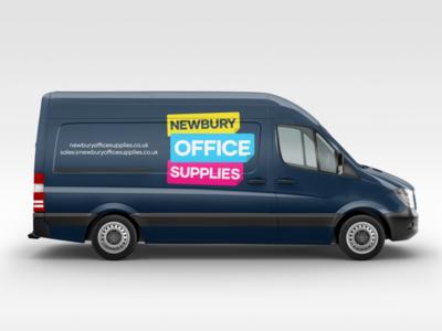 Van Mockup - Office Supplies Branding