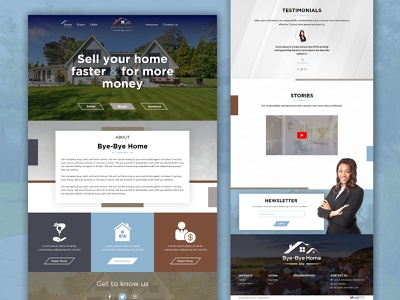 Bye Bye Home website design realestate ui  ux ui design
