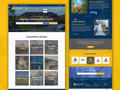 Joshua Velte website design realestate ui  ux ui design
