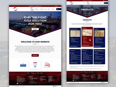 Landpro Title &  Abstract website design realestate ui  ux ui design