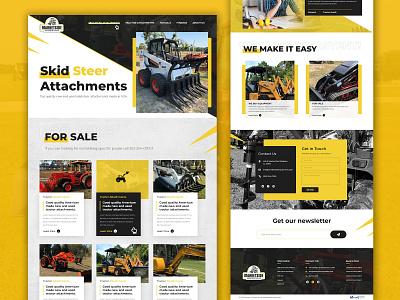 Market Side Equipment Sales website design realestate ui  ux ui design