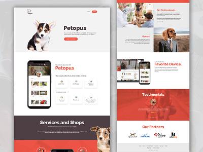 Petopus website design realestate ui  ux ui design