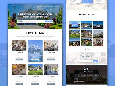 Ranked Up Marketing website design realestate ui  ux ui design