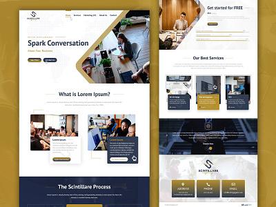 Scintillare website design realestate ui  ux ui design