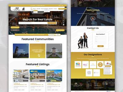 The B&P Team website design realestate ui  ux ui design