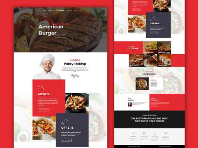 Cuisine web development website design ui  ux design