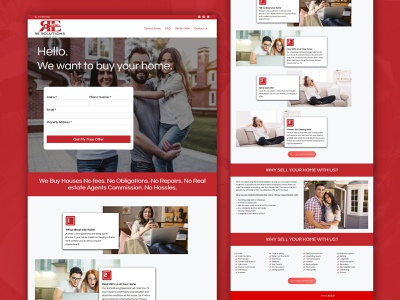 Re Solutions Group realestate web development ui  ux website design design