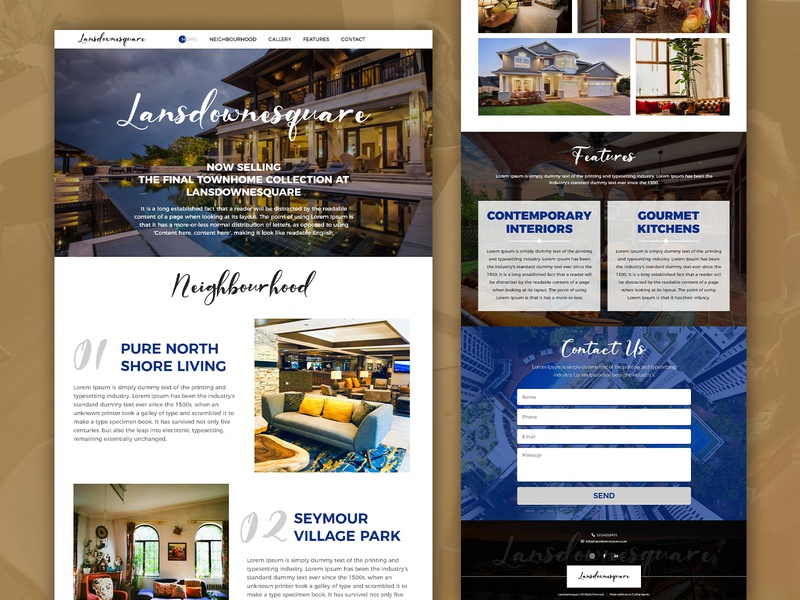 Lansdownesquare graphic design web design branding web development ui realestate website design ui  ux design