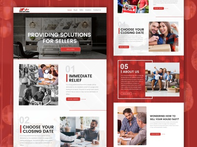 Chris Buys Homes graphic design web design web development ui realestate website design ui  ux design