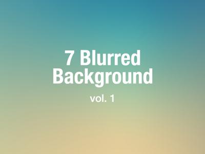 7 Free Blurred Background