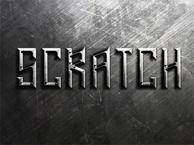 Metal Scratches Text Effect freebies text effect typography download psd