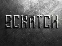 Metal Scratches Text Effect