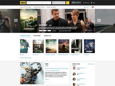 Imdb Homepage Concept2 freebies free designers template website design imdb movie download psd webdesign
