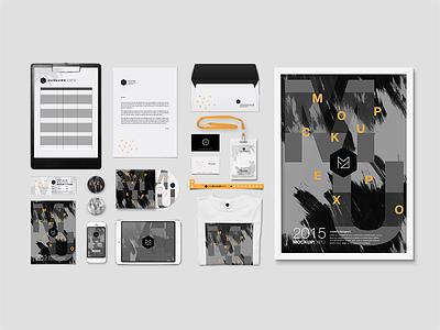Branding Mockup - Event mockup event branding poster cd envelope freebies free designers template design psd