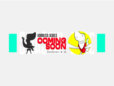 YouTube channel banner design for animated series