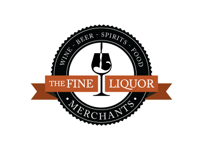 The Fine Liquor Merchants logo identity liquor wine caslon