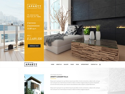 APARTT VILLA  Single Property HTML Template