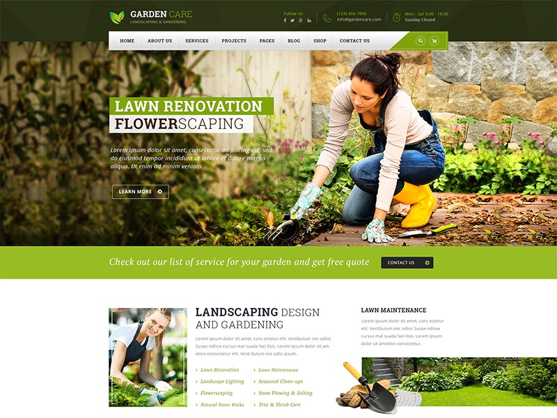 Garden Care Gardening And Landscaping Html Template By Vinod Pal